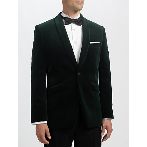 Buy John Lewis Velvet Shawl Collar Dinner Jacket, Dark Emerald Online at johnlewis.com