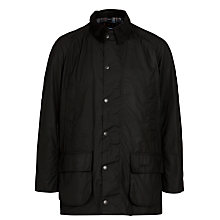 Buy Barbour Bristol Waxed Jacket, Black Online at johnlewis.com