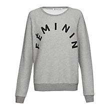 Buy Whistles Feminin Jumper, Grey Online at johnlewis.com