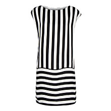 Buy Mango Striped Dress, Black/White Online at johnlewis.com