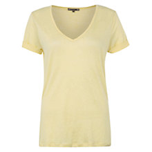 Buy Jigsaw Raw Edge Linen T-Shirt Online at johnlewis.com