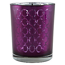 Buy John Lewis Chainlink Tealight Holder, Purple Online at johnlewis.com