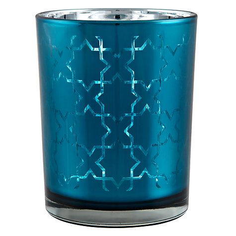 Buy John Lewis CrossTealight Holder, Peacock Online at johnlewis.com
