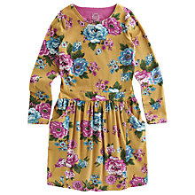Buy Little Joule Girls' Floral Dress, Yellow Online at johnlewis.com