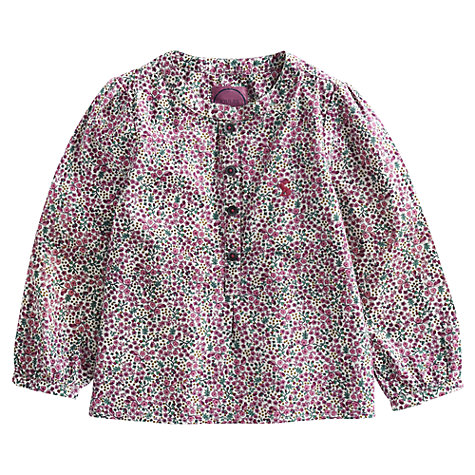 Buy Little Joule Emmie Printed Blouse, Multi Online at johnlewis.com