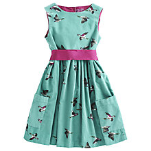 Buy Little Joule Duck Dress, Aqua Online at johnlewis.com