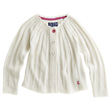 Buy Little Joule Marian Knitted Cardigan, Cream Online at johnlewis.com