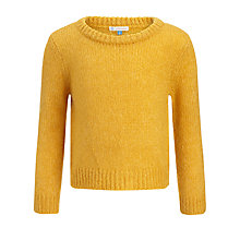 Buy John Lewis Girl Crew Knit Jumper, Yellow Online at johnlewis.com