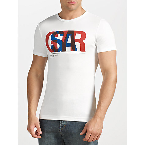 Buy G-Star Raw Halo Logo Print Short Sleeve T-Shirt Online at johnlewis.com