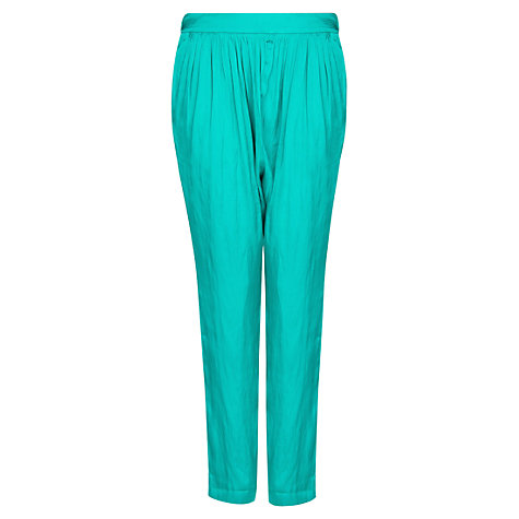 Buy Mango Satin Trousers, Green Online at johnlewis.com