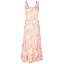 Buy Jacques Vert Shell Print Dress, Orange Online at johnlewis.com