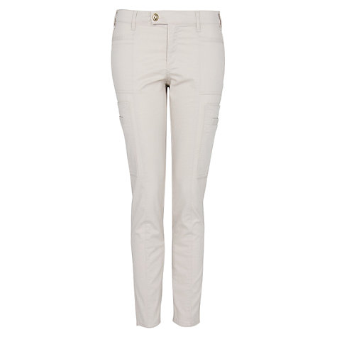 Buy Mango Cargo Trousers, Stone Online at johnlewis.com