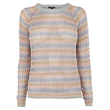 Buy Warehouse Striped Mesh Jumper, Multi Online at johnlewis.com