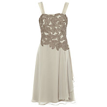 Buy Jacques Vert Appliqué Leaf Dress, Cream Online at johnlewis.com