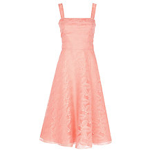 Buy Jacques Vert Organza Leaf Dress, Orange Online at johnlewis.com