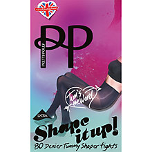 Buy Pretty Polly 80 Denier Tummy Shaper Tights, Black Online at johnlewis.com