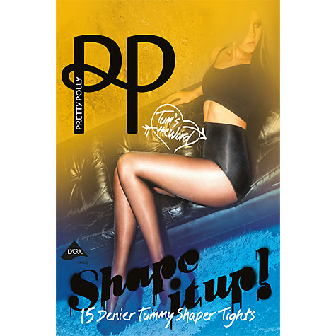Buy Pretty Polly Tummy Shaper Tights, Black Online at johnlewis.com