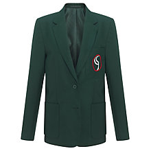 Buy Birchwood High School Girls' Blazer, Green Online at johnlewis.com
