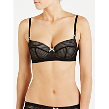 Buy Elle Macpherson Intimates Safari Style Balcony Bra, Black Online at johnlewis.com