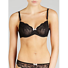 Buy John Lewis Genevieve Non-Padded Balcony Bra, Black Online at johnlewis.com