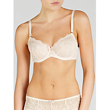 Buy John Lewis Genevieve Non-Padded Balcony Bra, Cream Online at johnlewis.com