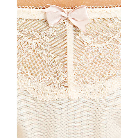 Buy John Lewis Genevieve Thong, Cream Online at johnlewis.com