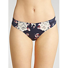 Buy John Lewis Louisa Pansy Briefs, Navy Online at johnlewis.com