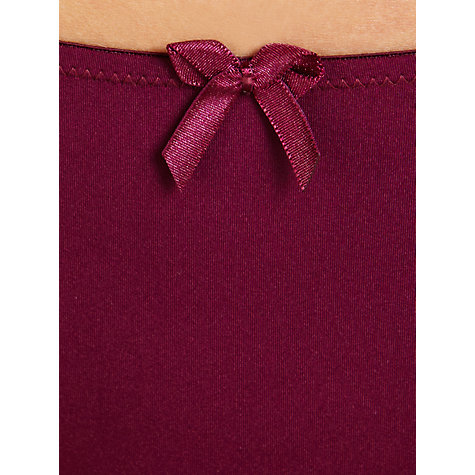 Buy John Lewis Sophia Briefs, Bordeaux Red Online at johnlewis.com