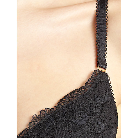 Buy COLLECTION by John Lewis Genevieve Plunge Bra, Black Online at johnlewis.com