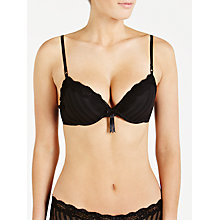 Buy Elle Macpherson Intimates Sheer Ribbons Plunge Bra, Black Online at johnlewis.com