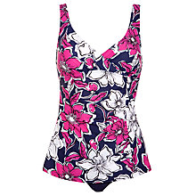 Buy John Lewis Skirted Floral Control Swimsuit, Pink/Navy Online at johnlewis.com