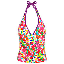 Buy John Lewis Frosted Floral Tankini Top, Multi Online at johnlewis.com