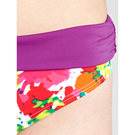 Buy John Lewis Frosted Floral Fold Down Bikini Briefs, Multi Online at johnlewis.com