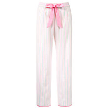 Buy Cyberjammies Candyfloss Striped Pyjama Bottoms, Pink Online at johnlewis.com