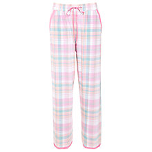 Buy Cyberjammies Candyfloss Checked Pyjama Bottoms, Pink Online at johnlewis.com