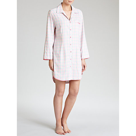 Buy Cyberjammies Candyfloss Small Checked Nightshirt, Pink Online at johnlewis.com