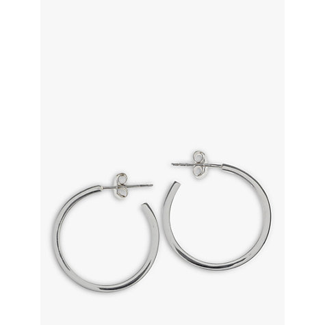 Buy Nina B Sterling Silver Square Hoop Earrings Online at johnlewis.com