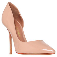 Buy Kurt Geiger Anja Cutaway Side Court Shoes, Nude Patent Online at johnlewis.com