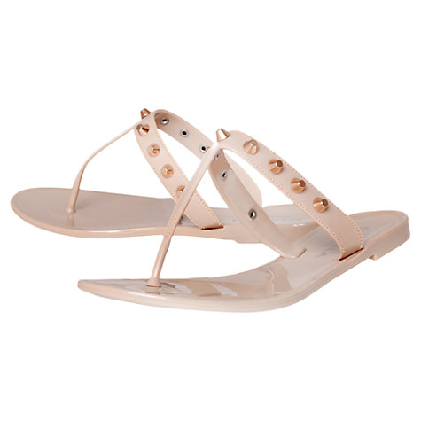 Buy Carvela Kristan Studded Toe Post Jelly Sandals, Nude Online at johnlewis.com
