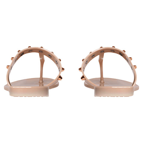 Buy Carvela Kristan Studded Toe Post Jelly Flip-Flops, Nude Online at johnlewis.com