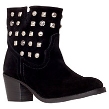 Buy Carvela Sherry Suede Ankle Boots, Black Online at johnlewis.com