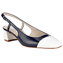 Buy COLLECTION by John Lewis Hayek Contrast Toecap Slingback Court Shoes Online at johnlewis.com
