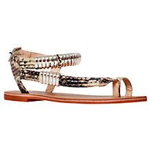 Buy Carvela Klipper Snake Print Metallic Detail Sandals, Beige Online at johnlewis.com