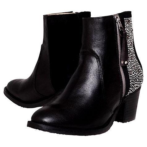Buy Carvela Shark Studded Ankle Boots, Black Online at johnlewis.com