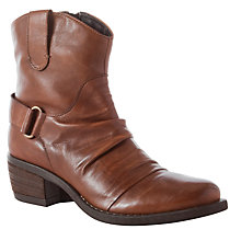 Buy John Lewis Kansas Western Leather Ankle Boots Online at johnlewis.com