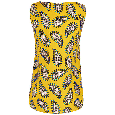 Buy Jaeger Paisley Print Top, Yellow Online at johnlewis.com