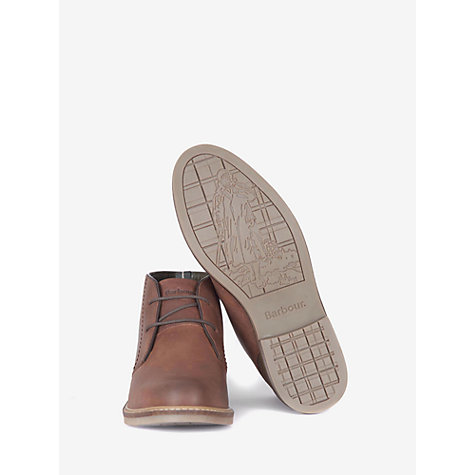 Buy Barbour Redhead Leather Chukka Boots, Dark Tan Online at johnlewis.com