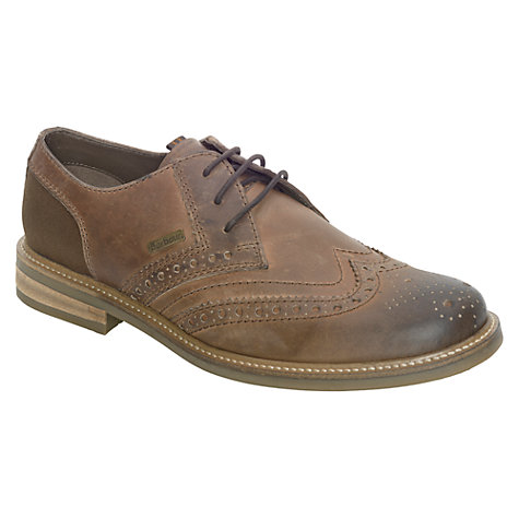 Buy Barbour Westoe Burnished Leather Brogue Derby Shoes Online at johnlewis.com