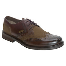 Buy Barbour Westoe Leather and Canvas Brogue Derby Shoes Online at johnlewis.com