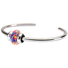 Buy Trollbeads Sterling Silver Bangle Aurora Bead Bangle Online at johnlewis.com